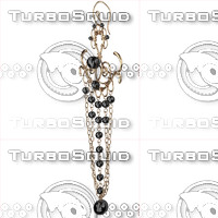 ring earrings 3d obj