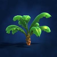 Lowpoly Cartoon Palm Tree 01