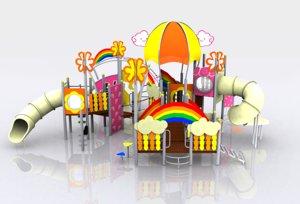 rainbow playground 3d model