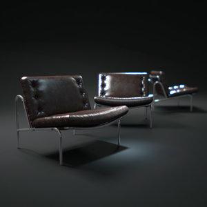 armless-osaka-chair 3d model