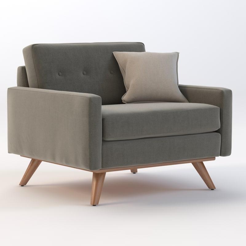 3d max joybird chair