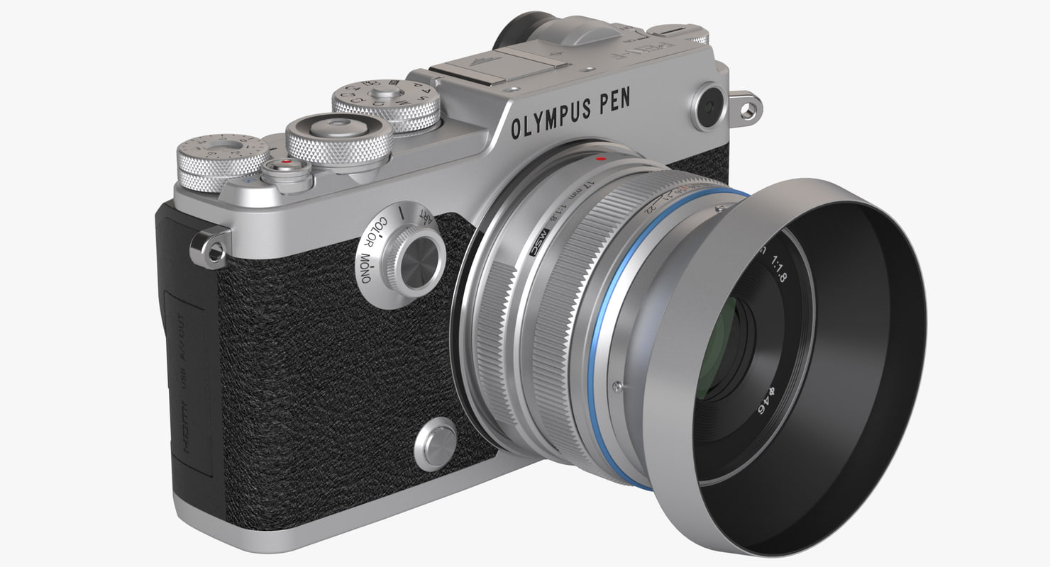 3d model photoreal mirrorless camera olympus