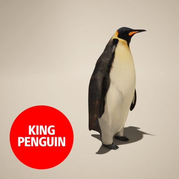 3d model of penguin king