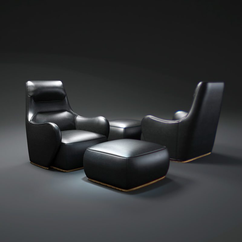 caddy-wing-chair 3d max