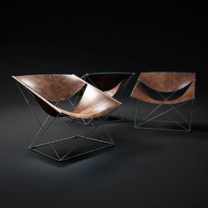 3d pierre-paulin-butterfly-chair-f675