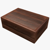 red wood box 3d model