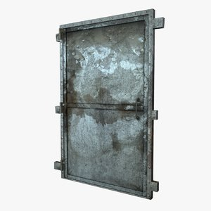 3d door old metal