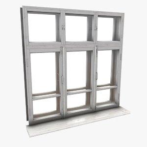 3d old window model