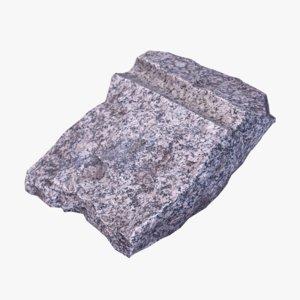concrete debris 3d obj