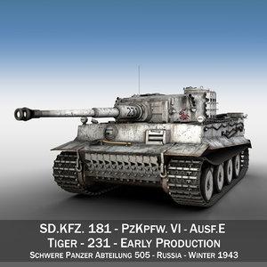 sd panzerkampfwagen vi - 3d c4d