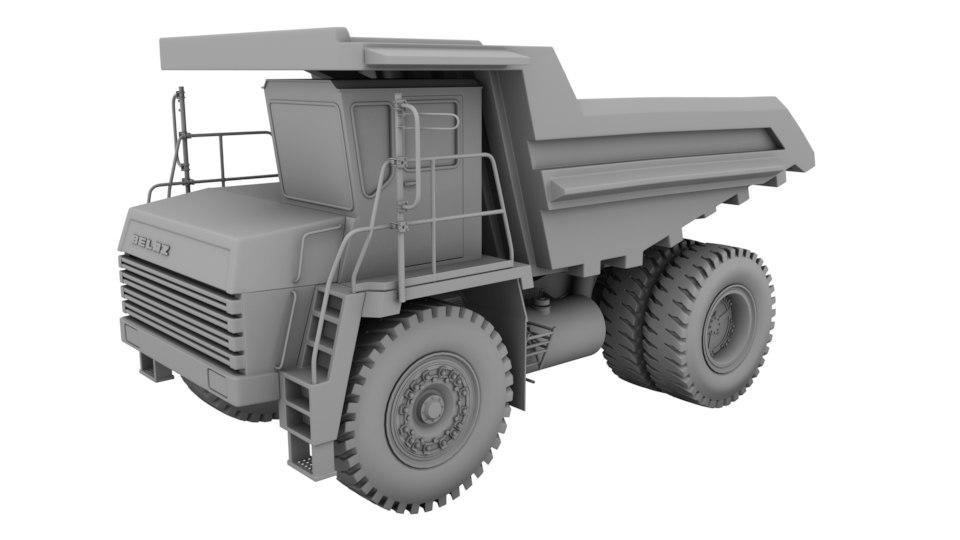 3d belaz 7540 model