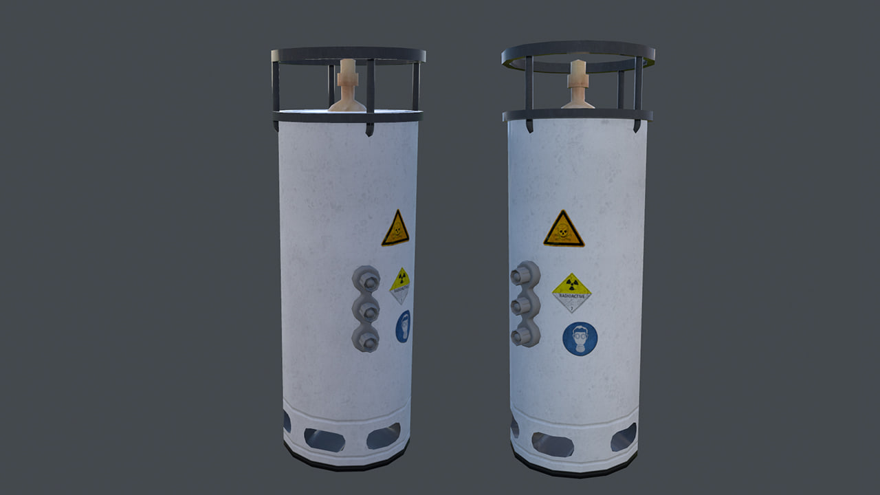 3d lab container model