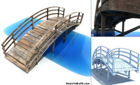 3d old wooden bridge model
