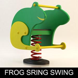spring swing playground child 3d 3ds