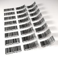 barcode code 3d model