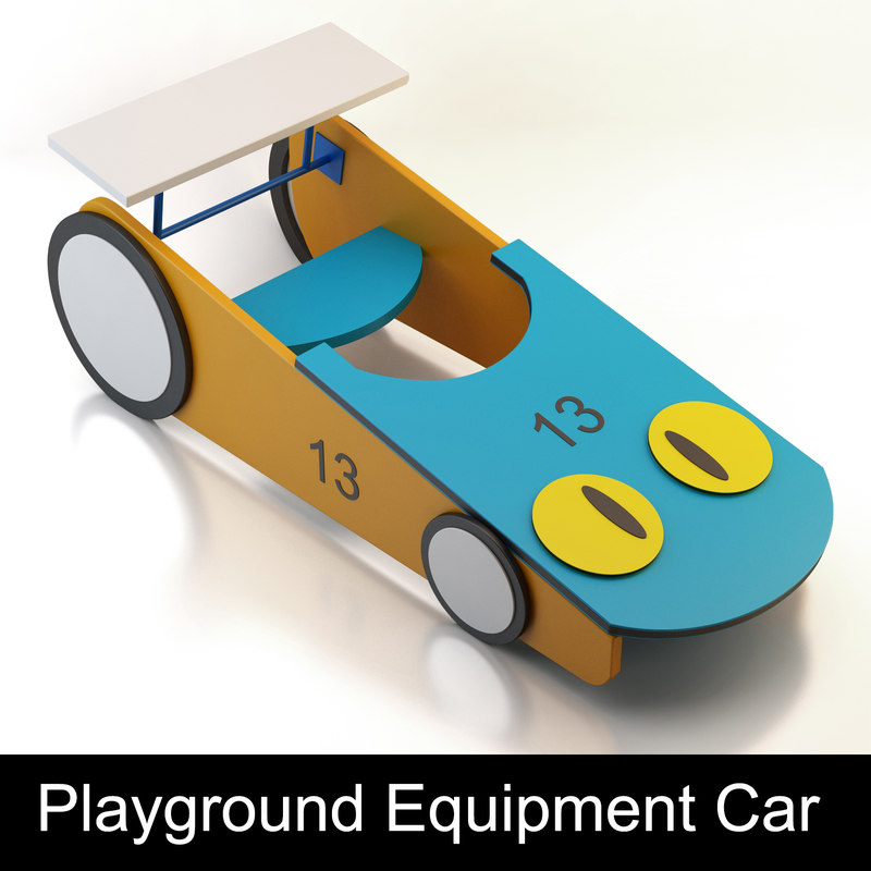 car playground child 3d model