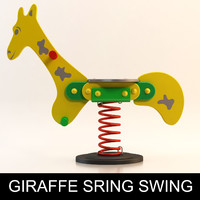 3d model giraffe spring swing playground