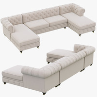 restoration hardware kensington upholstered 3d max