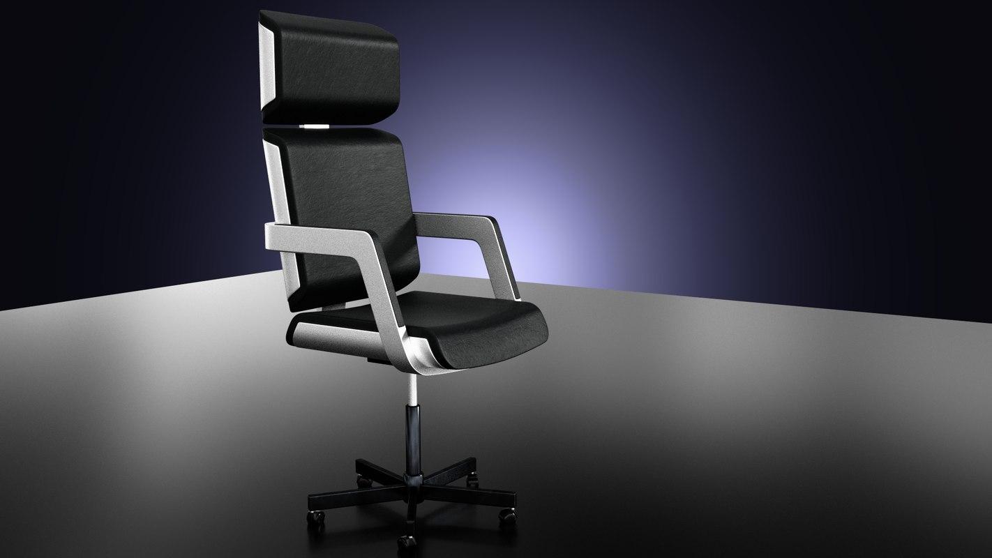 3d steel armchair hitech model