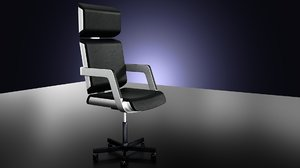 3d steel armchair hitech model
