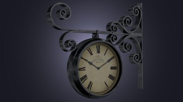 3d street clock