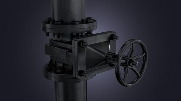 3d model industrial faucet