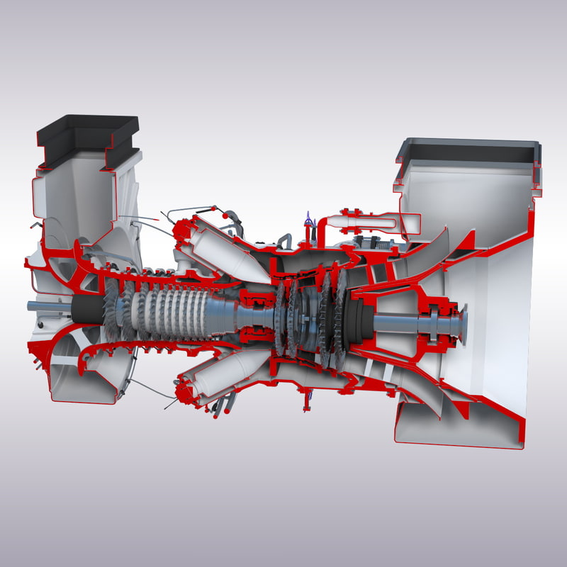turbine engines 3d max