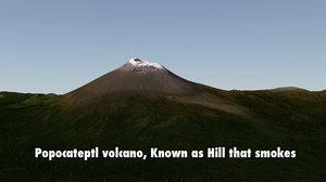 volcano puebla obj
