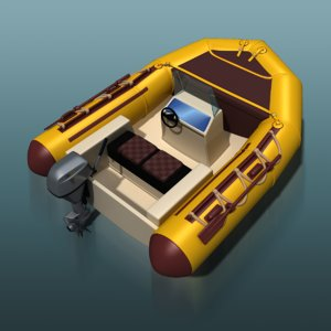 motor boat inflatable 3d max