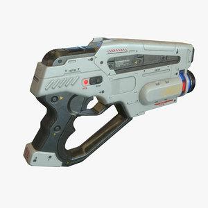 3d model sci fi gun