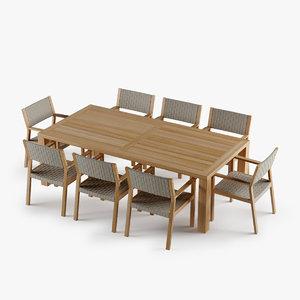 3d maze dining chair teak