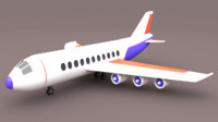 3d plane airplane car model