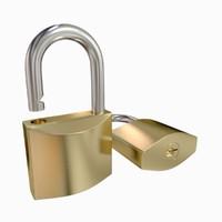 padlock lock pad 3d model