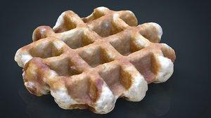 3d waffle 8k model