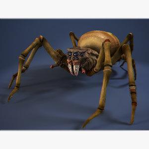 3d model spider-foulbrood
