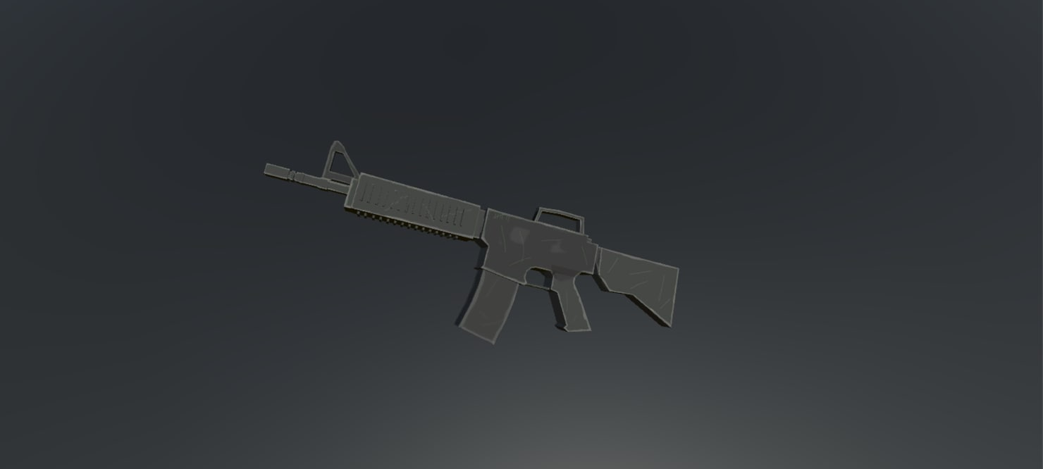3d 3ds m4a1 assault rifle
