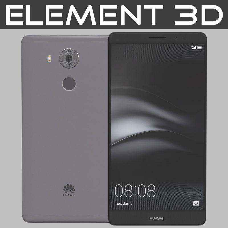 3d 3ds realistic element huawei mate