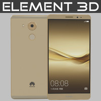 realistic element huawei mate 3ds