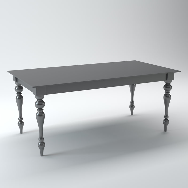 acrylic table 3d max