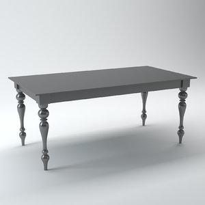 acrylic table 3d max