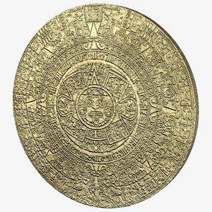 3d model aztec calendar