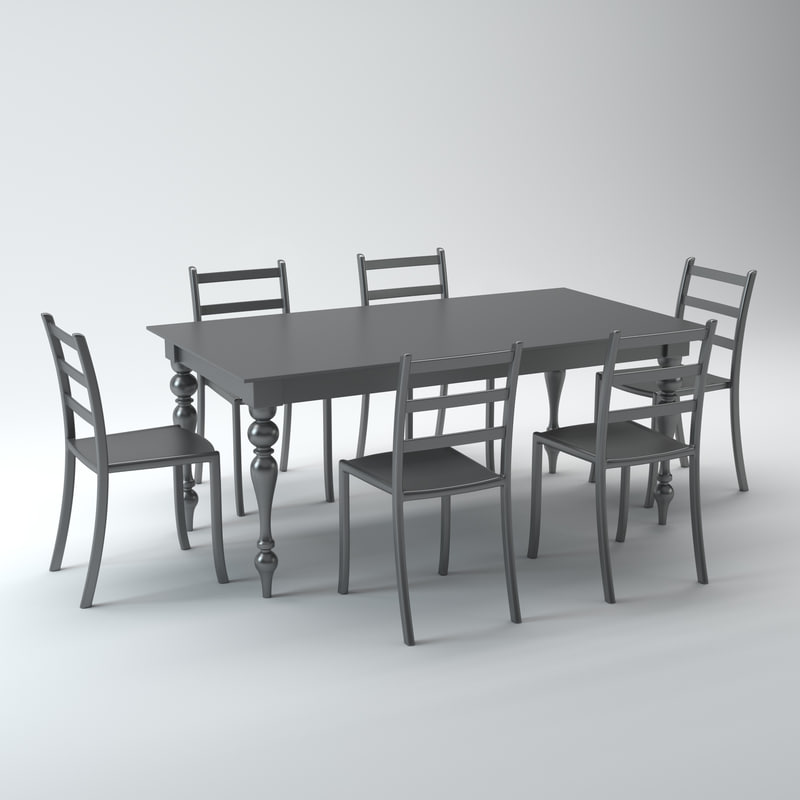 3d dining set acrylic