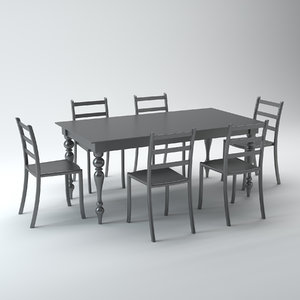 3d dining set acrylic