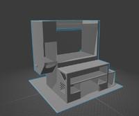 3d non-textured desk