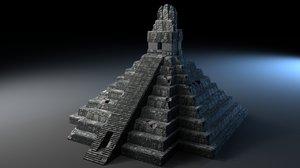 pyramid tikal guatemala 3d ma