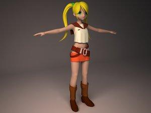 3d anime girl