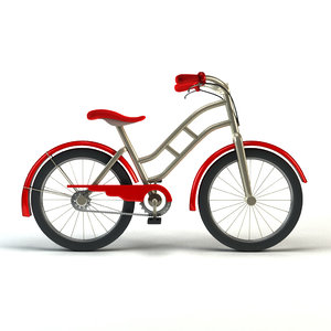 3d model of simple cartoon bicycle