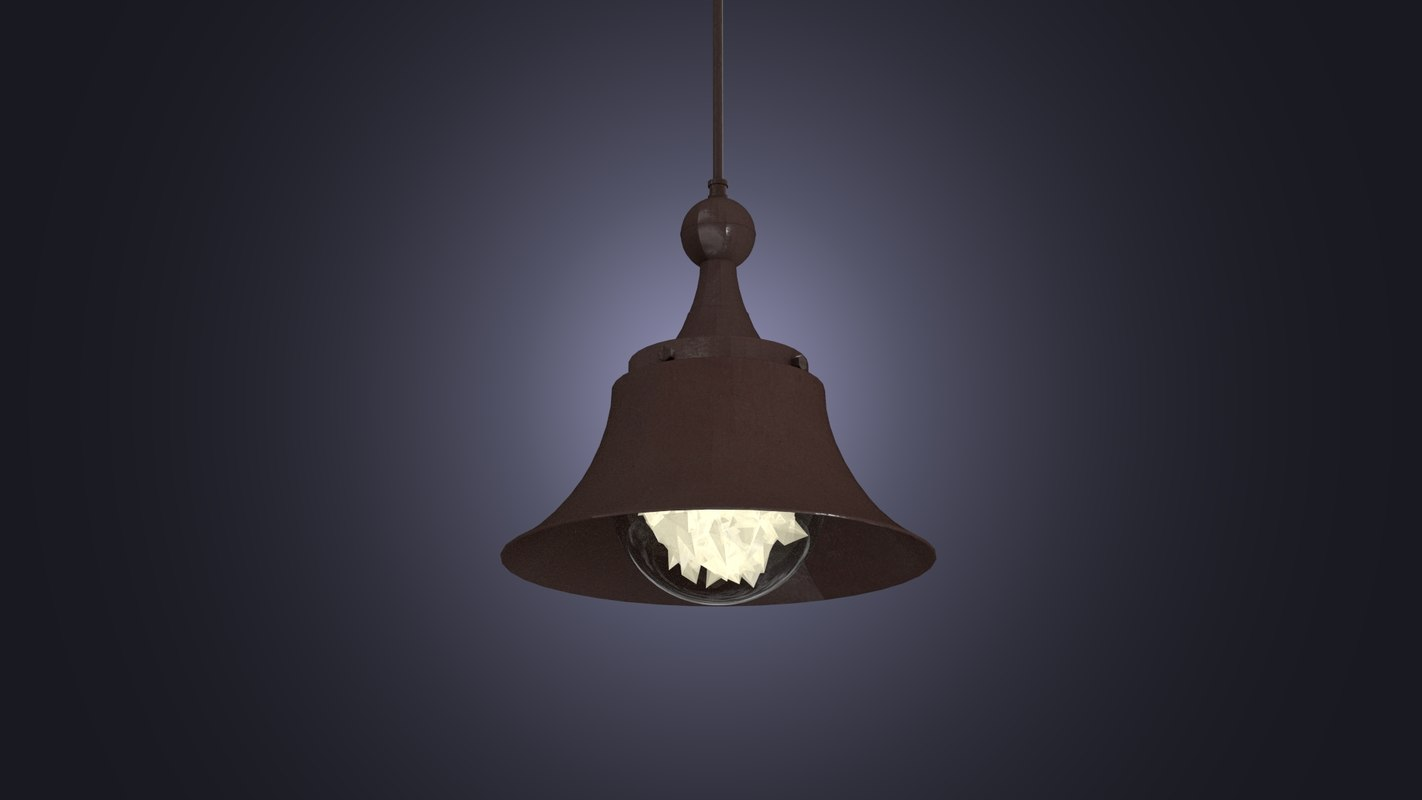 metall lamp loft 3d model
