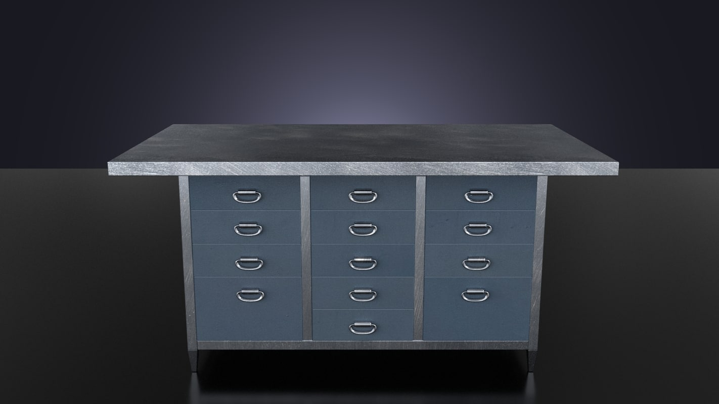 kitchen table loft 3d fbx