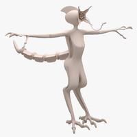 alien concept 2016 3d model